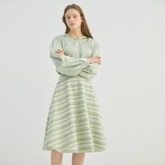 LAYERED STRIPE MIDI SKIRT (2COLORS)