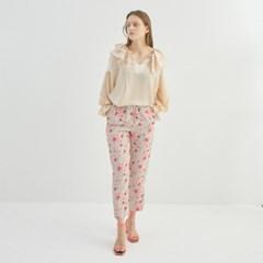 VERONICA KHAKI FLOWER PANTS