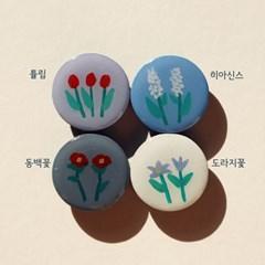 그려낸 꽃 그립톡 스마트톡
