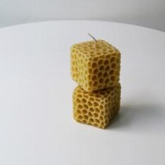 [Honey Bees Candle] 벌집큐브 밀랍초