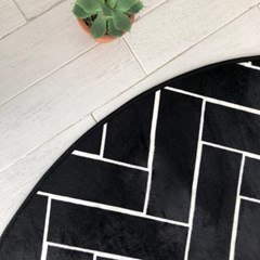 간절기 헤링본 극세사 거실 침실 원형 러그 100x100cm_(1773250)
