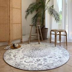 프리미엄 셔닐 페르시안 빈티지 원형 거실 러그 150cm_(1773044)