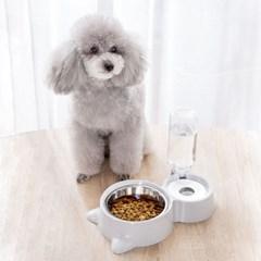 5H펫 삼색 강아지밥그릇 애견식기 2구