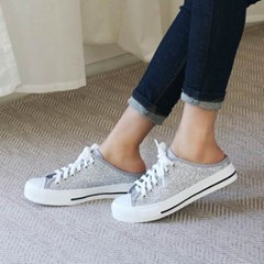 kami et muse Glittering fabric backless sneakers_KM20s062