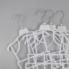 10묶음 유아 아기 아동 전신옷걸이
