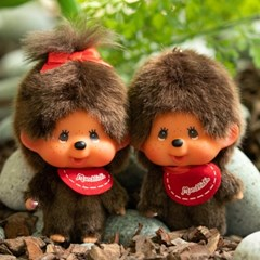 Big Head Monchhichi SS Boy Keychain