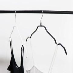 논슬립 코팅옷걸이 옷가게 여성 예쁜 속옷 나시걸이 10묶음