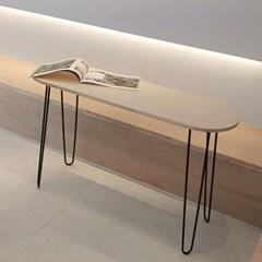 원목 스틸 슬림 사이드 테이블 콘솔 A