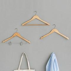 옷가게 나무 원목 옷걸이 튼튼한 옷걸이 10세트