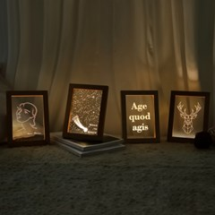 우드프레임 램프 4종 - LED 아크릴 나무 무드등