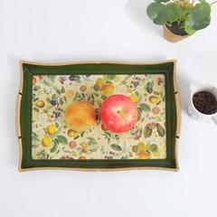 마샤 과일 사각 쟁반 2P set