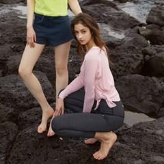 여성 요가복 DEVI-T0027-핑크 필라테스 커버업 티셔츠