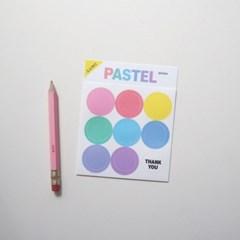 파스텔 투명 스티커