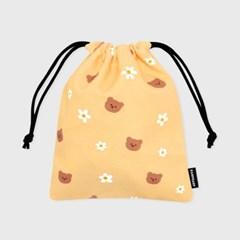 Dot flower bear-yellow(스트링파우치)_(1532420)