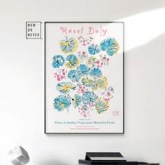 메탈 꽃 연꽃 연잎 그림 포스터 행운 액자 라울 뒤피 6