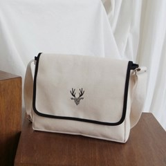 Flap cross bag_Ivory