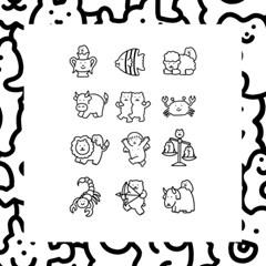 12 마리 별자리 친구들 - 굿모닝타운 타투 스티커 VOL 3