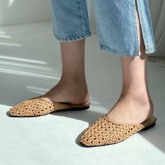 kami et muse Fine mash slim flit mule slippers_KM20s077