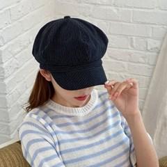 여름 린넨 스트라이프 뉴스보이캡 모자