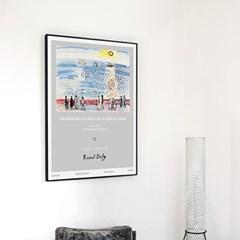메탈 모던 바다 풍경 그림 포스터 액자 라울 뒤피 12