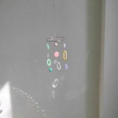 circular mini mobile - multi color