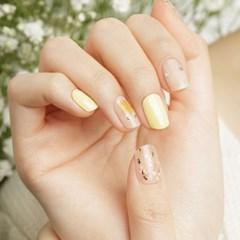 [젤라또팩토리] 하또하또핏 네일 레몬크림부케
