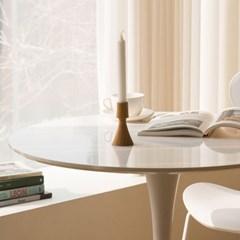 하이그로시 릴리 800 원형 테이블 식탁