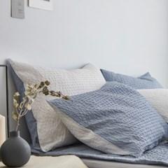 샤베트 시어서커 선염 여름 베개커버(50x70) 5종