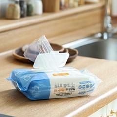 명작 뽑아쓰는 일회용 비닐 위생 장갑 400매_(2280274)