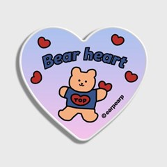 Gradation bear heart-blue/purple(하트톡)_(1549176)