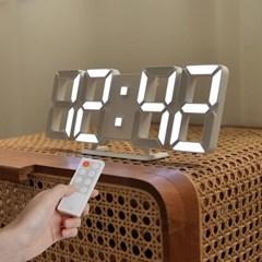 [무아스] 퓨어 30cm 슬림형 led 벽시계 무선 리모컨 3D 거실시계