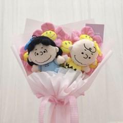 스누피 찰리&루시 인형 꽃다발