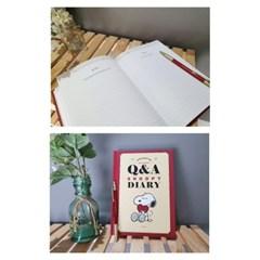 스누피 Q&A 다이어리 레드