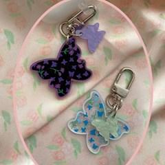[뮤즈무드] with butterfly key ring (키링)
