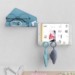 벽걸이 선반 휴대폰 태블릿 다용도 거치대