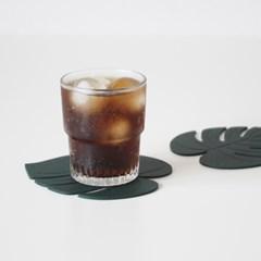몬스테라 실리콘 컵받침 티코스터 실리콘코스터