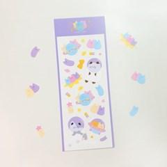 [메리로제] 우주고양이 씰 스티커