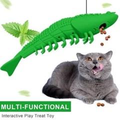 반려용품 새우모양 실리콘 고양이 칫솔 (치석제거)