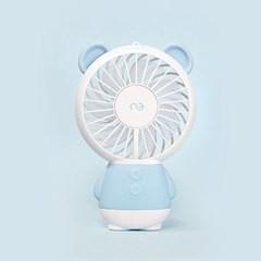 앤쓰리 모모곰이 LED 휴대용 미니 선풍기