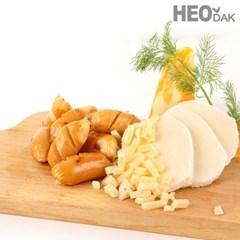 [허닭] 닭가슴살 비엔나 트리플치즈 64g