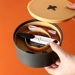 모던 원형 버튼 반짇고리 바느질 세트 보관함