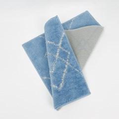 스카치 발/주방매트 블루