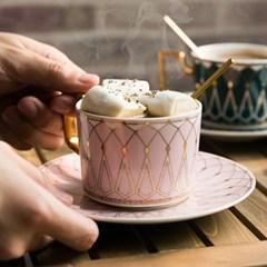 [카페클럽] 북유럽풍 퀸 커피잔 세트 (4color)