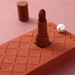 대용량 18칸 실리콘 초콜릿 립스틱 수납함 트레이