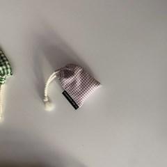 라벤더 체크 에어팟 케이스(Lavender check airpods case)
