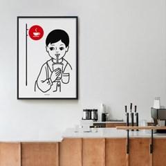 커피 맛집 M 유니크 인테리어 디자인 포스터