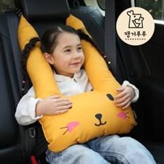캥거루루 차량 안전벨트인형 루띠쿠션 핑크