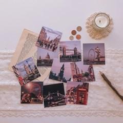 런던 감성 미니 여행 엽서 세트