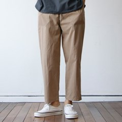 CN 퍼티그 남자 밴딩 면 팬츠 와이드 슬랙스 9부 3color