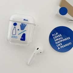 AIR POD CASE. BLUE